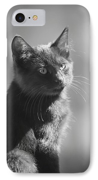 Portrait Of A Kitty Phone Case by Kim Henderson