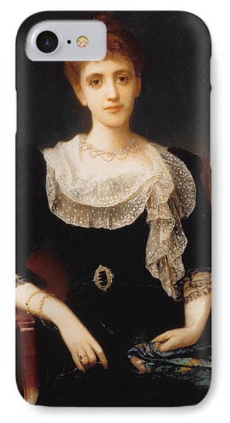 Portrait Of A Lady Phone Case by Charles Edward Halle