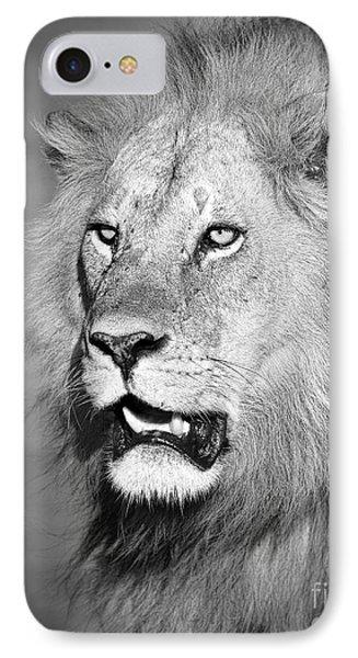 Portrait Of A Lion Phone Case by Richard Garvey-Williams