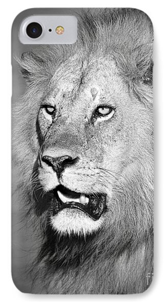 Portrait Of A Lion IPhone Case by Richard Garvey-Williams