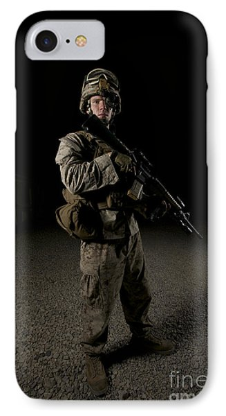 Portrait Of A U.s. Marine Phone Case by Terry Moore