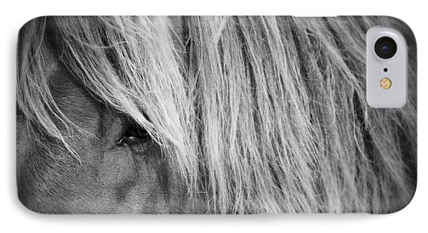 Portrait Of A Wild Horse IPhone Case by Bob Decker