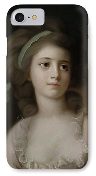 Portrait Of A Young Lady Phone Case by French School