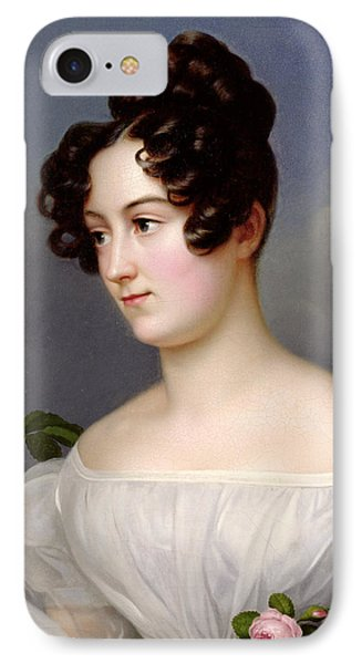 Portrait Of A Young Woman IPhone Case by  Franz Seraph Stirnbrand