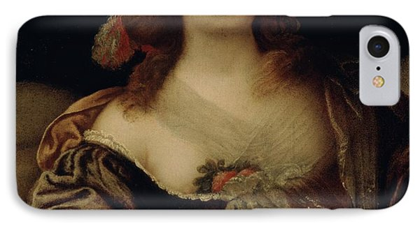 Portrait Of A Young Woman  IPhone Case by Girolamo Forabosco