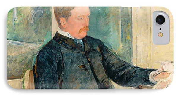 Portrait Of Alexander J. Cassatt Phone Case by Mary Stevenson Cassatt
