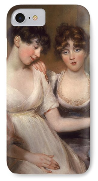 Portrait Of Anne And Maria Russell Phone Case by John Russell