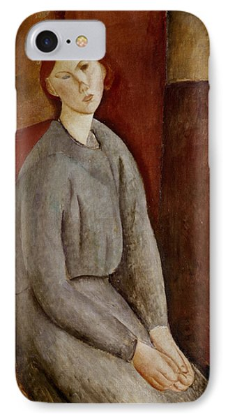 Portrait Of Annie Bjarne IPhone Case by Amedeo Modigliani
