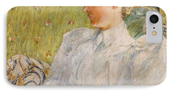 Portrait Of Edith Blaney Phone Case by Childe Hassam