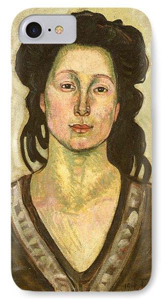 Portrait Of Jeanne Cerani Phone Case by  Ferdinand Hodler