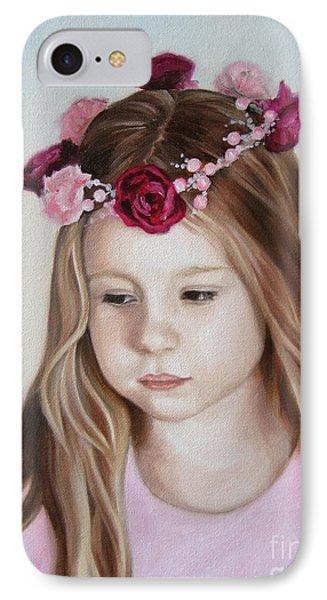 Portrait Of Kristinka Phone Case by Jindra Noewi