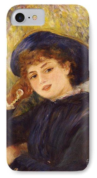 Portrait Of Mademoiselle Demarsy Phone Case by Pierre Auguste Renoir