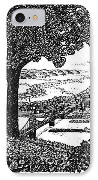 Portsmouth Ohio From A Kentucky Hill IPhone Case