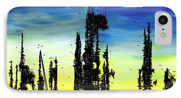 Post Apocalyptic Skyline 2 Phone Case by Jera Sky