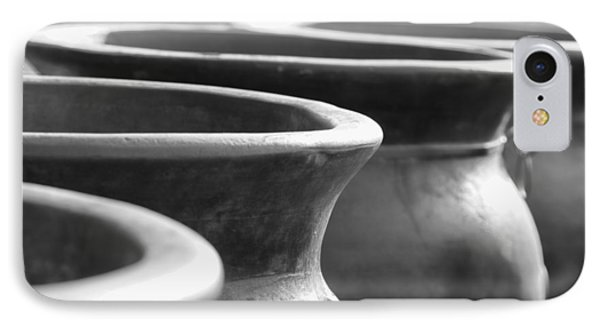 Pots In Black And White IPhone Case by Kathy Clark