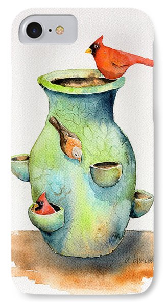 Pottery Vase And Birds Phone Case by Arline Wagner