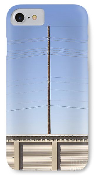 Power Line Pole Over Bay Doors Phone Case by Dave & Les Jacobs