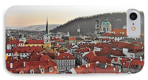 Prague - A Story Told By Rooftops Phone Case by Christine Till