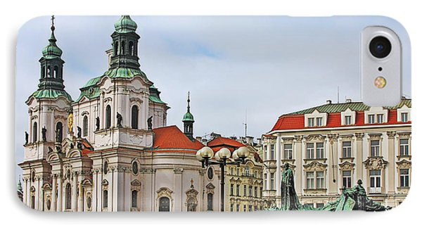 Prague - St Nicholas Church Old Town Square Phone Case by Christine Till