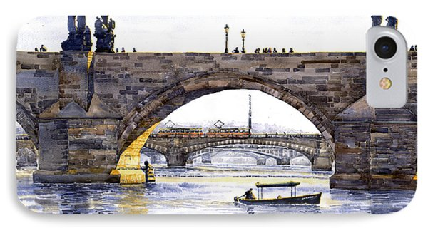Prague Bridges IPhone Case by Yuriy  Shevchuk