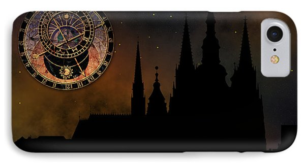 Prague Casle - Cathedral Of St Vitus - Monuments Of Mysterious C IPhone Case by Michal Boubin