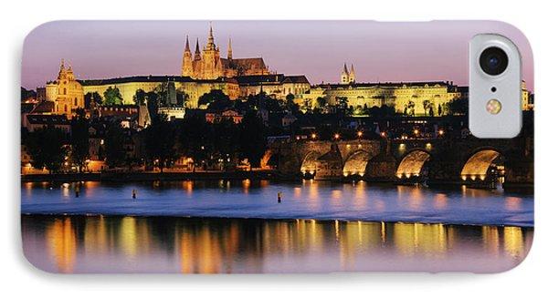 Prague Castle On The Riverbank Phone Case by Jeremy Woodhouse