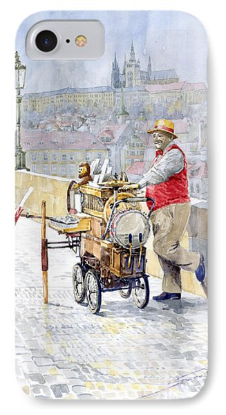 Prague Charles Bridge Organ Grinder-seller Happiness  IPhone Case