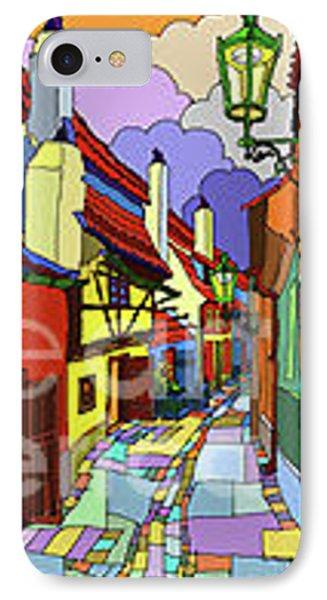 Prague Golden Line IPhone Case