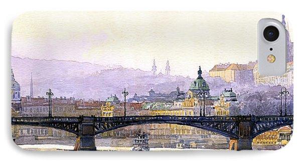 Prague Panorama Cechuv Bridge Variant Phone Case by Yuriy  Shevchuk