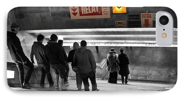 Prague Underground Station Stairs Phone Case by Stelios Kleanthous