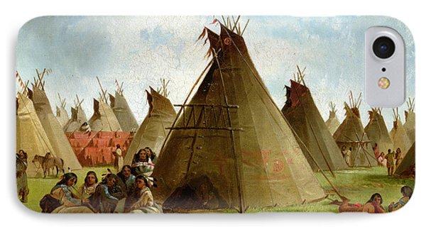 Prairie Indian Encampment IPhone Case by John Mix Stanley