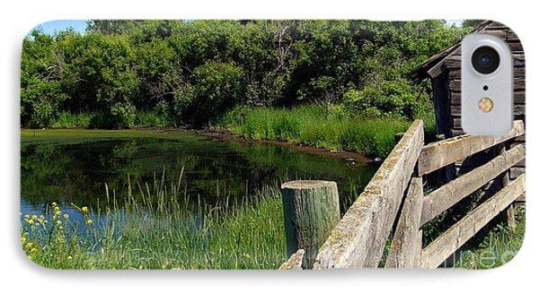 IPhone Case featuring the photograph Prairie Pond by Jim Sauchyn