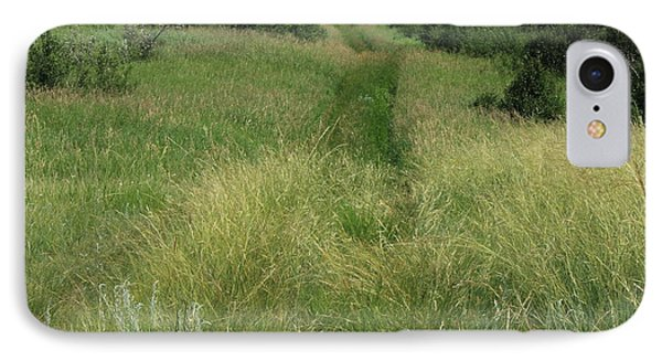 Prairie Trail In High Grass IPhone Case by Jim Sauchyn