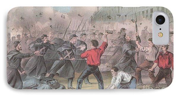 Pratt Street Riot, 1861 Phone Case by Photo Researchers