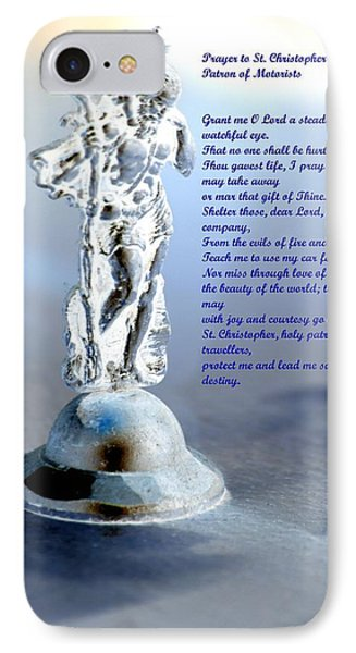Prayer To St Christopher Phone Case by Maria Urso