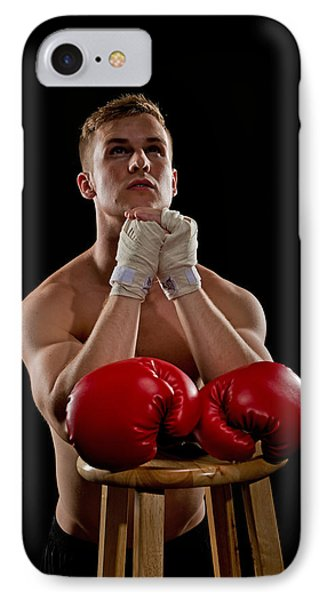 Praying Boxer IPhone Case by Jim Boardman