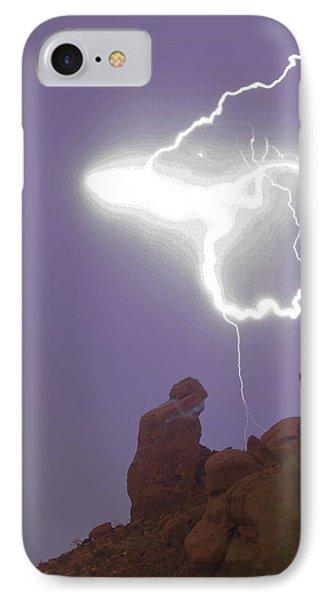 Praying Monk Lightning Halo Monsoon Thunderstorm Photography Phone Case by James BO  Insogna