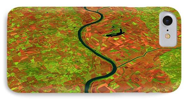 Pre-flood Missouri River Phone Case by Nasagoddard Space Flight Center