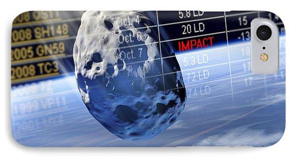 Predicting Asteroid Impact, Artwork Phone Case by Detlev Van Ravenswaay