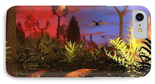 Prehistoric Forest Fire, Artwork Phone Case by Walter Myers