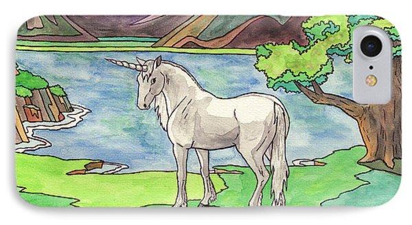Prehistoric Unicorn IPhone Case
