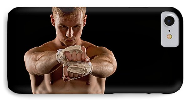 Preparing For The Fight IPhone Case by Jim Boardman