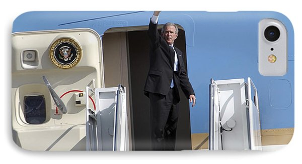 President George Bush Waves Good-bye IPhone Case by Stocktrek Images