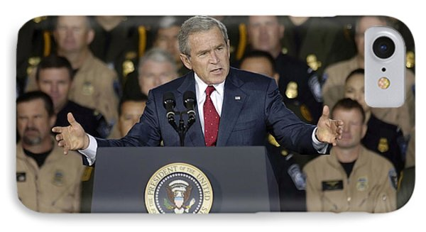 President George W. Bush Speaks IPhone Case by Stocktrek Images