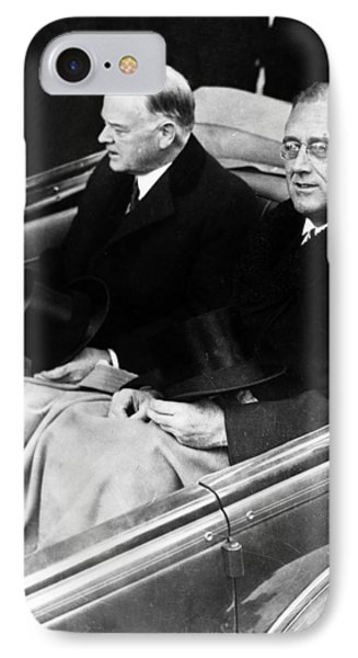 President Hoover And President Elect Franklin Delano Roosevelt - C 1933 IPhone Case by International  Images