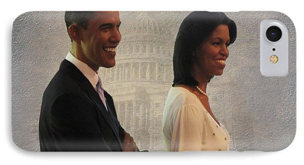 President Obama And First Lady Phone Case by David Dehner