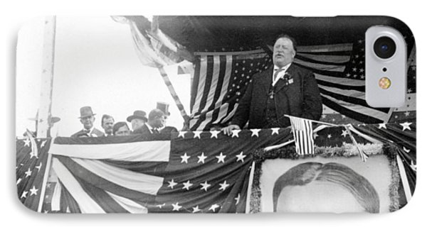 President Taft Giving A Speech In Augusta - Georgia C 1910 Phone Case by International  Images