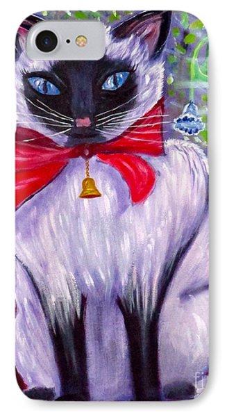 Pretty Fat Cat Phone Case by Phyllis Kaltenbach