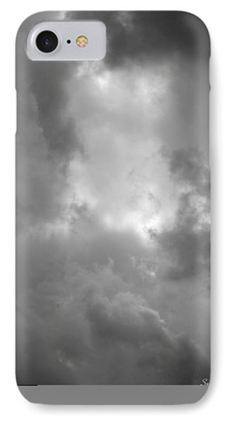 Primordial In Black And White Phone Case by Suzanne Gaff