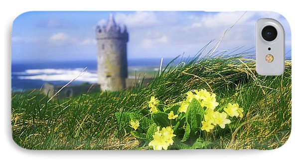 Primrose Flower In Foreground Phone Case by The Irish Image Collection